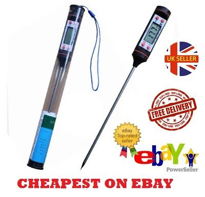 Digital Food Thermometer Probe Temperature Kitchen Cooking BBQ Meat Turkey UK***
