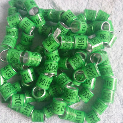 100pcs*8mm customized bands for 2018 racing pigeon rings pigeon leg bands