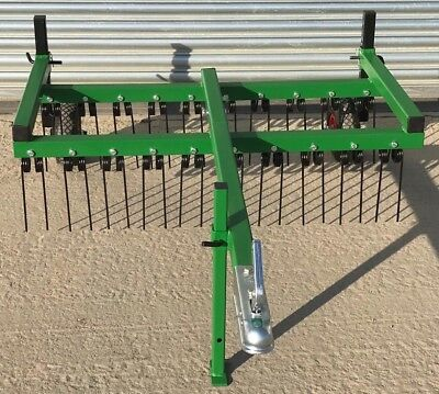 ATV, Spring Tine Harrow, Grass Harrow, Tractor Harrow Field Harrows Chain Harrow