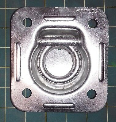 Forge 1-1/2in ID Recessed Zinc Tie Down D-ring