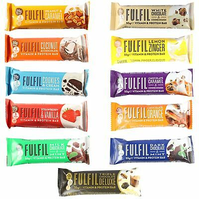 Fulfil Vitamins & Protein Bars Healthy High in Fibre and Carbs 60g