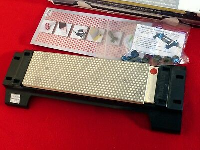 "DMT Model W8EF-H-WB 8""X2.625"" sharpener with base mint in box"