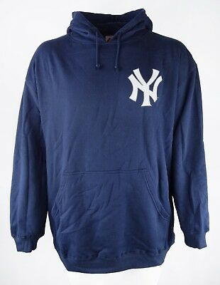 New York Yankees Men's Navy Stitch Logo 3X - 6X Pullover Hoodie MLB