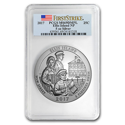 2018 Block Island 5 oz Silver ATB Beautiful PCGS MS69 DMPL FS Mercanti SKU49855