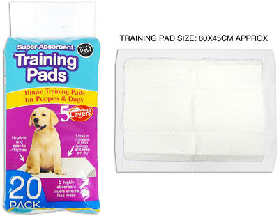 20PC Puppy Training Pads Large Trainer Toilet Pee Absorbent Mats Pets Dog Cat
