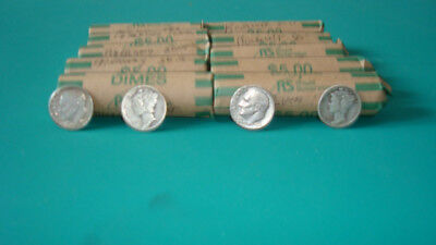 Mercury and Roosevelt silver dimes  10  $5 rolls