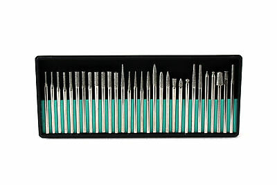 TEMO 30p Fine Diamond Coated Burrs Glass Drill Bit Grit 300 fit Rotary Tools