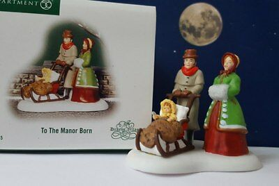 Dept 56 Dickens Village TO THE MANOR BORN!   Perfect, Rare