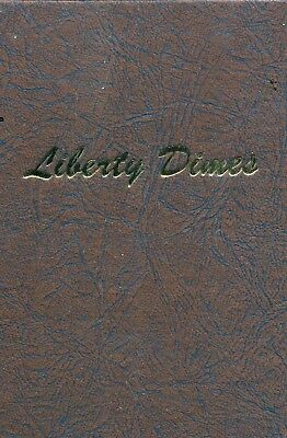 1892 - 1916 liberty Barber Dimes Complete missing 1895-O (73) Coins in Album