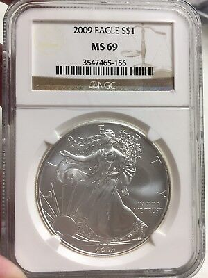 2009 American Silver $1 Eagle  Ngc Ms 69