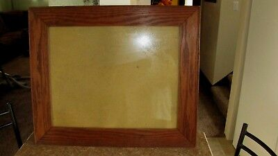 """1900's Beautiful  SOLID  OAK Mission Arts Crafts Large 25"""" by 21"""" Antique Frame"""