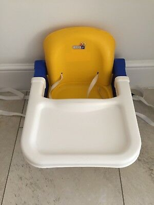 K&D portable high chair / booster seat with tray