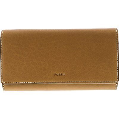 Fossil Women's Emma Flap Cloth Leather Wallet