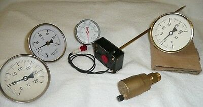 Thermometer- Manometer- Systementlüfter- Regler