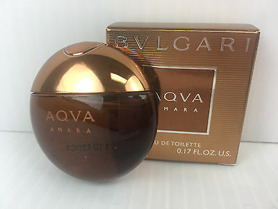 2a79fcb026 BVLGARI AQVA AMARA By BVLGARI MEN COLOGNE 0.17 OZ / 5 ml NEW IN BOX  MINIATURE