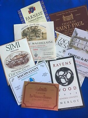 40 NEW French, California & Italian Wine labels - no private labels only estate