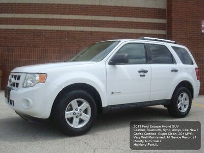 2011 Ford Escape Hybrid SUV 2011 FORD ESCAPE HYBRID SUV LEATHER BLUETOOTH CD/AUX 1 OWNER CARFAX NICE ! CLEAN