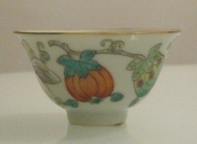 Stunning Antique Chinese Famille Rose Miniature Porcelain Bowl