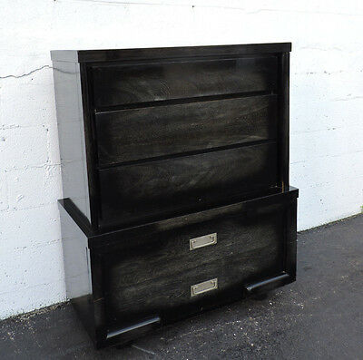 Hollywood Regency Painted Tall Chest of Drawers by American of Martinsville 7128