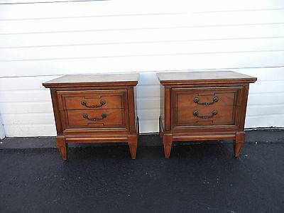 Pair of Nightstands Side End Tables by Dixie 6867