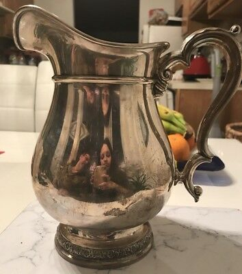 Vintage Sterling Silver International Prelude Large Water Pitcher E95 4 1/4 Pint