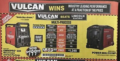 HARBOR FREIGHT COUPON for Vulcan Omnipro 220 Multi-Process Welding Wire &  Gun Pk