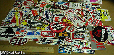 20 old vtg Small-Med Hot Rat Rod Drag Racing Decal Sticker Lot Grab Bag Tool Box