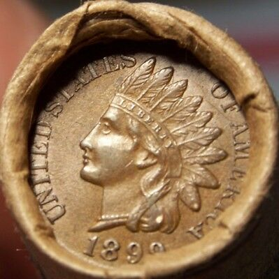 1924-S Wheat/1899 Indian Ends Unsearched Estate Roll Wheat/indian Cents #8729