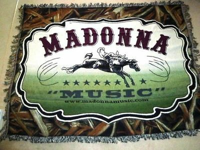 MADONNA - MUSIC : 2000 US Official Merchandise cotton BLANKET : not promo/not CD