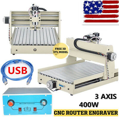 USB PORT 400W 3Axis 3040T CNC Router Engraver Engraving Milling Drilling Machine