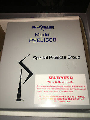 First Choice PSEL 1500 Panic Hardware Device Power Controller Sp-500