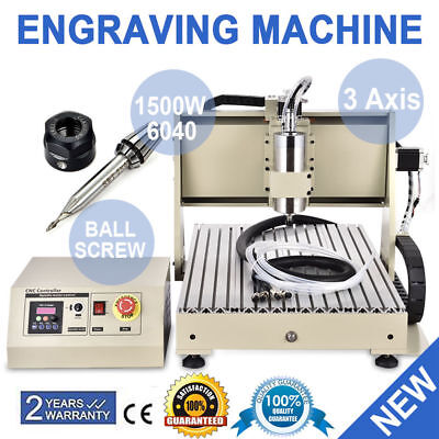 1.5KW VFD 6040 3Axis CNC Router Engraver Engraving Milling Drilling Machine USA