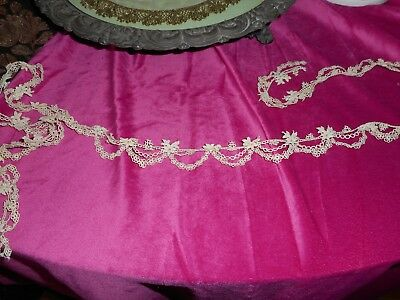 Very fine Delicate antique lace trim for dolls or other.