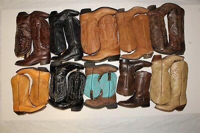 Cowboy USED REHAB Lot Boots Wholesale Tony Lama Dan Post J Chisholm dKvV
