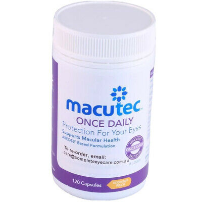 Macutec Once Daily 120 X 1/2/3/4 Protection for your eyes Supports Macula Health