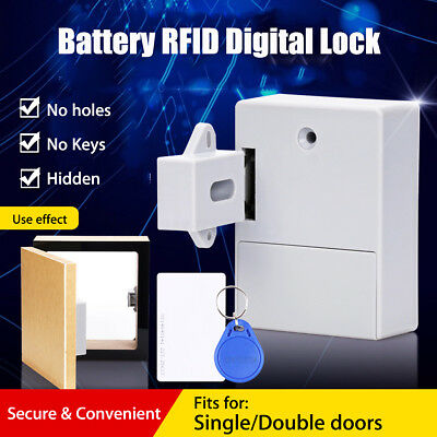 Drawer Lock DIY Hidden Digital Lock Battery RFID Cabinet without Perforate Hole