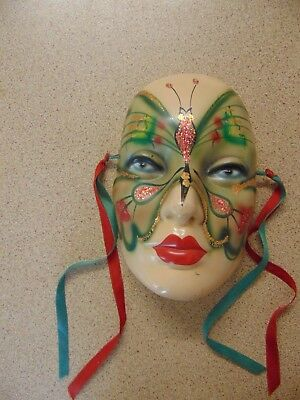 Stunning 1920s-1930s Butterfly Lady Art Deco Wall Mask Rare Beautiful Condition