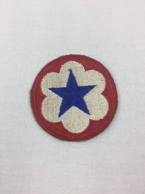 WW2 US Army Service Forces Shoulder Patch SSI Cut Edge Blue Star White Cloud