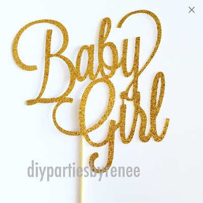 Baby Girl Cake Topper - Assorted Colours -Its A Girl - Mum To Be - Baby Shower