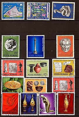 28T1 ROMANIA 16 stamps obliterated grand format ,figures various