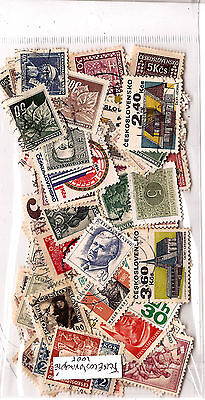 EX-CZECHOSLOVAKIA 100 stamps obliterated ALL DIFFERENT good condition K100
