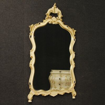 Mirror venetian lacquered furniture mirror wooden golden antique style 900