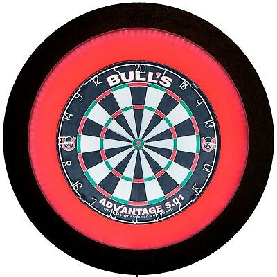 Bulls Termote 2.0 LED Dartboard Lighting System Red Surround & Dimmer Strong