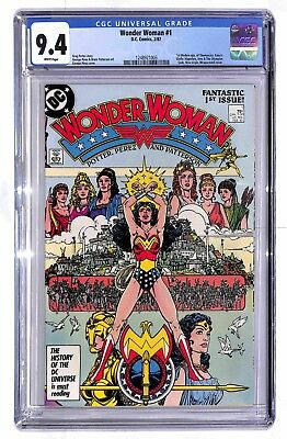 Wonder Woman #1 1987 DC CGC 9.4 White Pages