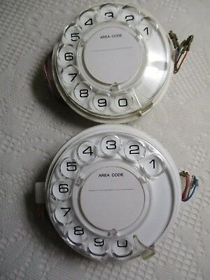 2 x 802 RETRO Telephone Dial Recon'd. New Label & Flat Disc centre covers on.