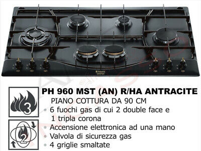 Piano Cottura Incasso Cucina Hotpoint Ariston cm.90 PH960MST(AN)R/HA  Antracite