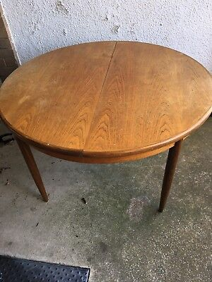 1960's G-Plan Dining Table with 6 chairs, Vintage Antique Extending Teak Table
