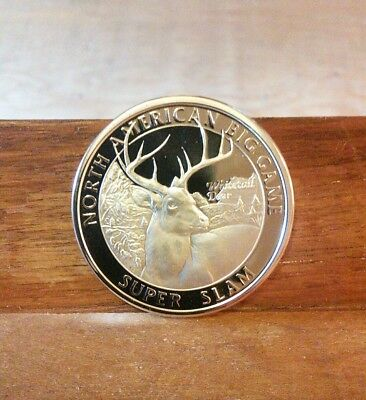 Lot Of 2-North American Big Game Super Slam-Whitetail Deer Coins-Free Shipping!