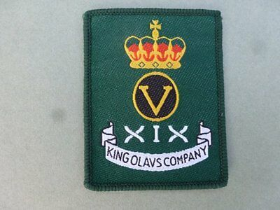 Green Howards Regiment King Olavs Company cloth patch