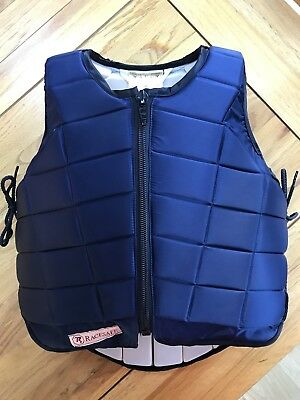 Racesafe RS 2010 Body Protector Childs Size L Large Navy Blue